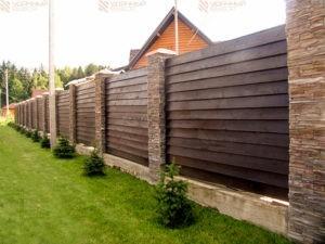 Деревянный забор нестандартный