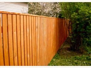 Деревянный забор стандартный