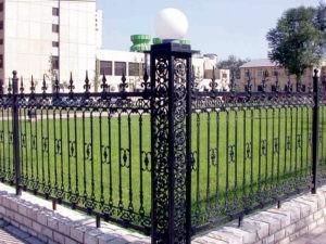 Кованый забор оригинальный