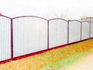 Забор из профлиста белый