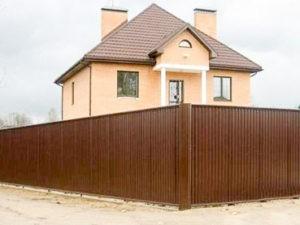 Забор из профлиста для коттеджа