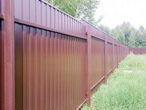 Забор из профлиста обычный