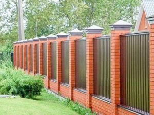 Забор из профлиста для дома