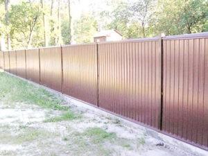 Забор из профлиста оригинальный