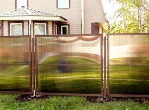 Забор из поликарбоната оригинальный