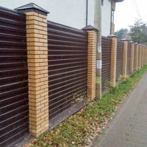 стильный забор из профнастила