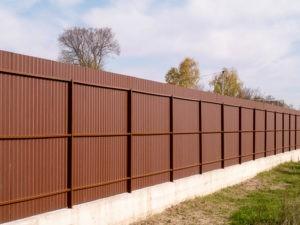 Забор из профнастила стандартный