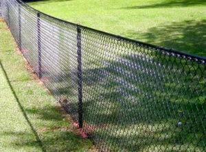 Забор из сетки-рабицы стандартный