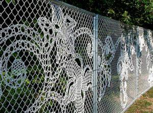 красивый забор из рабицы