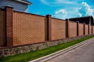 кирпичный забор купить