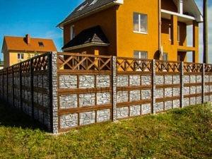 бетонный забор секционный цена
