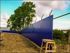 построить забор на даче под ключ