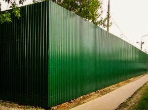 забор из профнастила под ключ стоимость