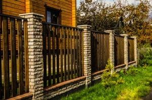 заборы в Подольском районе из кирпича и штакетника